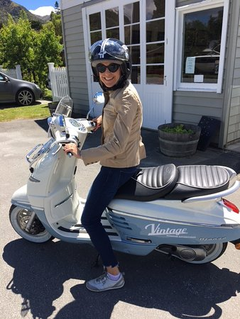 Camilla all set to cafe hop around the Arrowtown area.