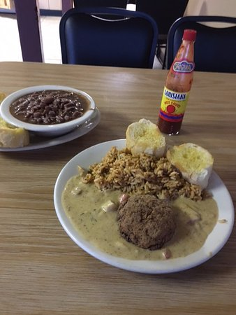 Picayune, MS: Red Beans and Rice and a Crabcake Stella