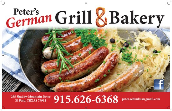 Business card picture of peters german grill bakery el paso peters german grill bakery business card reheart Image collections