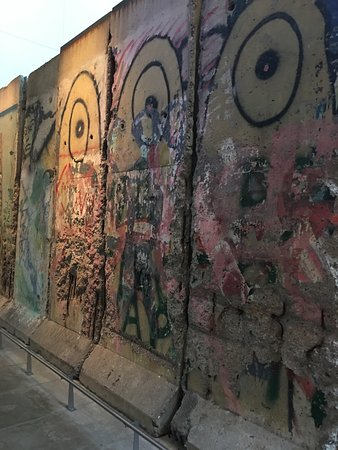 Berlin Wall exhibit at the Newseum.