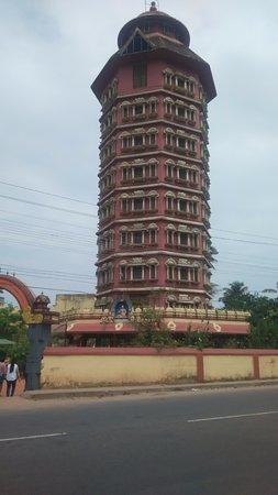 It's a beautiful monument built in respect to Adi Shankaracharya at his birthplace Kalady, Keral