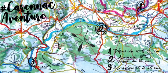 Carennac Aventure vous propose 3 parcours au choix pour descendre la Dordogne en canoë-kayak ...