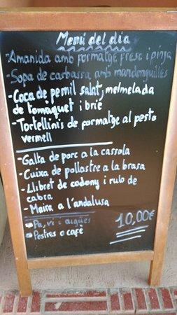Moia, Ισπανία: Menu 1