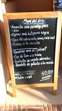 Moia, Ισπανία: Menu 2