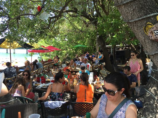 Lake Monroe, FL: The eating area at Robbies