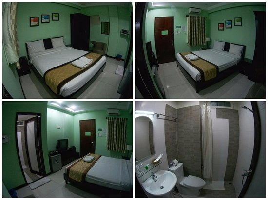Green Suites Hotel : room 304 and bathroom