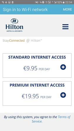 Hilton Madrid Airport: The Cost of the internet
