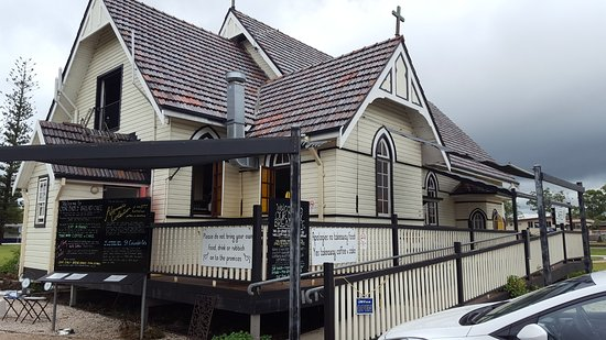 Broadwater, Australia: The old Catholic Church converted into a beautiful cafe.