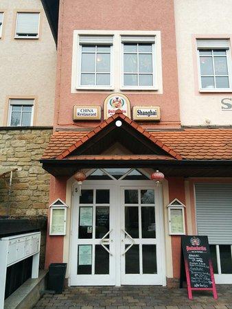 Eppingen, Deutschland: Eingang, Restaurant im ersten Obergeschoss.