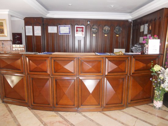 Hotel Nazar: Reception area.
