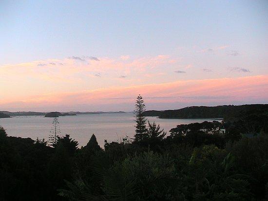 De zon gaat onder in de Bay
