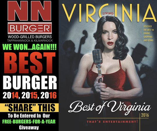 "Kilmarnock, Вирджиния: Voted ""Best Burger"" in Virginia Living Magazine's Readers Poll"