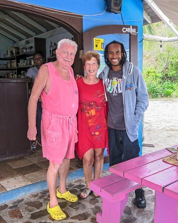 North Sound, Virgin Gorda: Gumption with Mario and Joan at the Fat Virgin