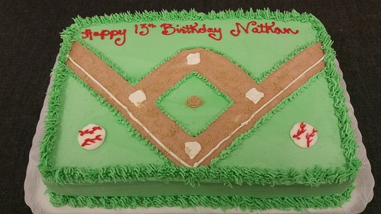 Awesome Baseball Field Birthday Cake 1 2 Sheet Picture Of Over The Top Personalised Birthday Cards Paralily Jamesorg