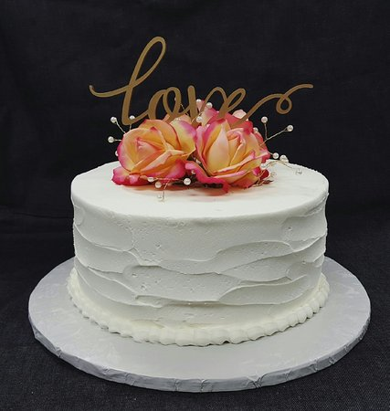 Rough iced 8 inch triple layer wedding cake - Picture of Over The ...