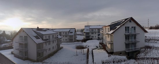 Bad Bellingen, Germany: The view of secondary hotel buildings from my balcony in the main hotel building