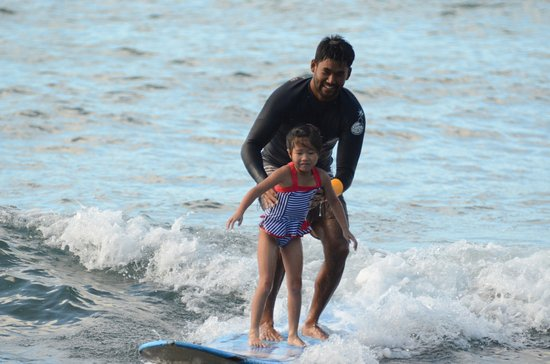 Sea and Board Sports Hawaii: 7 year old standing up.