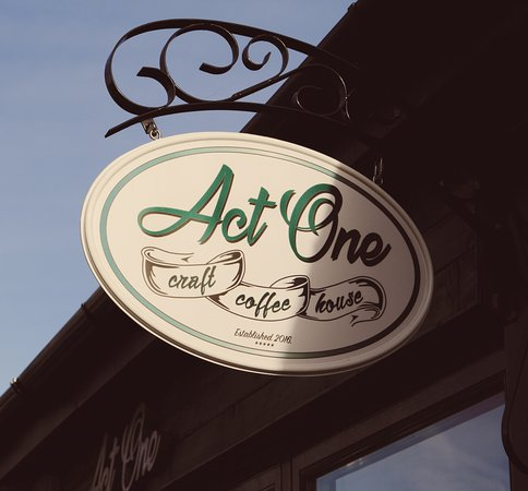 Newbridge, Irlanda: Find this sign on Cutlery Road and come inside to enjoy a specialty coffee.