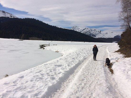 Campan, Frankreich: Super balade à travers les pistes de ski de fond et de raquettes