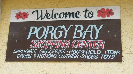 Sign at Jones Shopping Center in Bimini