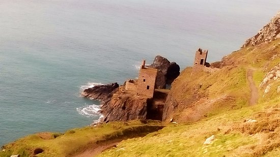 Newlyn, UK: Botallack tin mines 8 miles away on the North coast