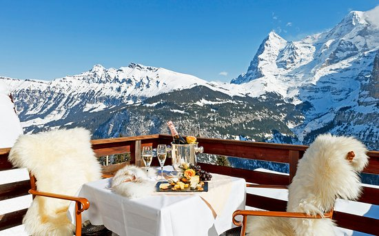 Hotel Eiger: Private terasse from one of our suites