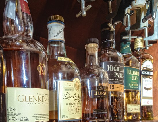 Leadhills, UK: A selection of our whisky