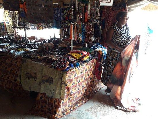 Kabwata Cultural Village: Vendor with merchandise