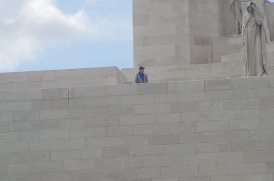 Vimy ridge to get an idea of the size of it