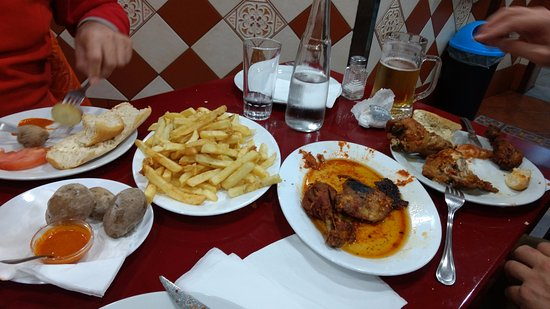 Oasis: Meat lovers had the spicy very garlic chicken and chips