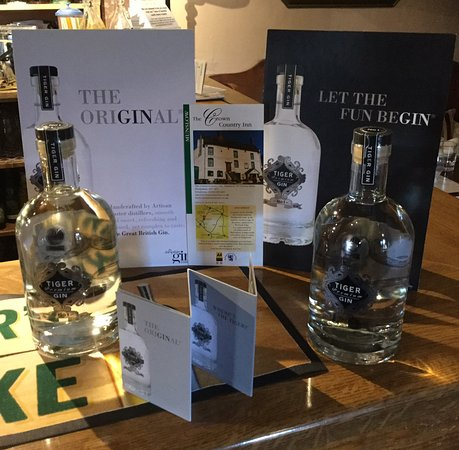 Munslow, UK: Shropshire Tiger Gin..delicious!