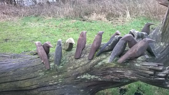 Somerset, UK: tree sculpture, detail