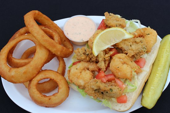 McKenna's Place: Shrimp and Oyster Po' Boy with Homemade Remoulade
