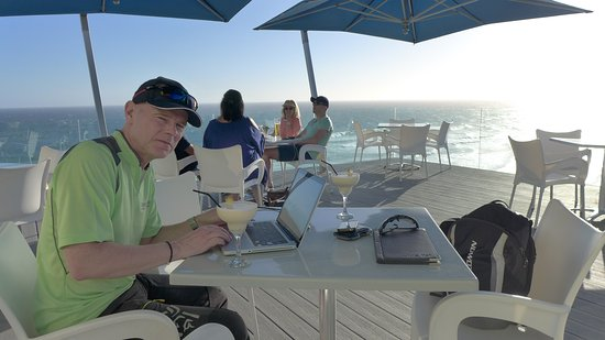 Views Restaurant: A drink on the terrace