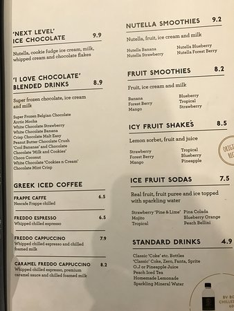 Bar Cafe Parramatta Menu