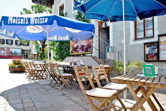 Piesendorf, Austria: die gemütliche Terrasse