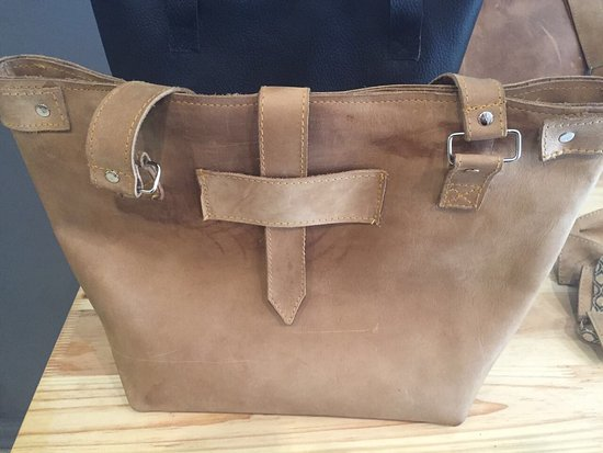 Potchefstroom, แอฟริกาใต้: Locally produced leather products