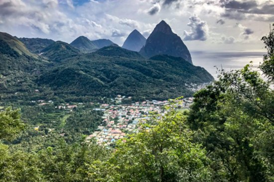 Cosol Tours: The Pitons in the distance