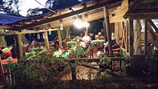 Outside area/Terrace of Chubascos Restaurant.