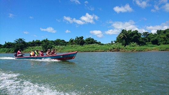 Rivers Fiji - Day Adventures: long boat ride