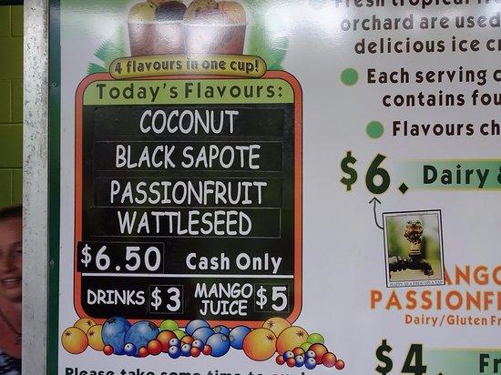 Diwan, Austrália: Flavors of the day