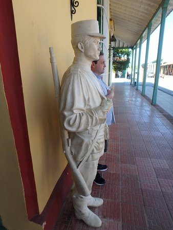 Ciego de Avila, Cuba: On Guard @ Museum