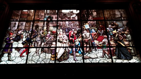 American Swedish Institute: Stained glass mural