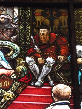 American Swedish Institute: Stained glass mural depicting King Valdemar