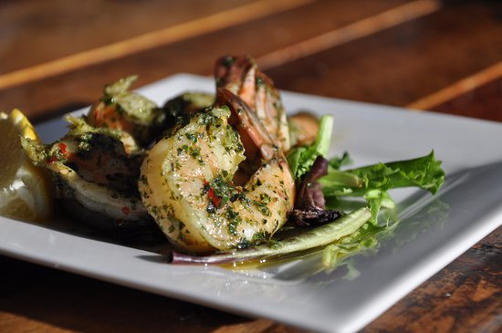 Westhampton Beach, NY: Grilled Basil Shrimp, another dinner staple