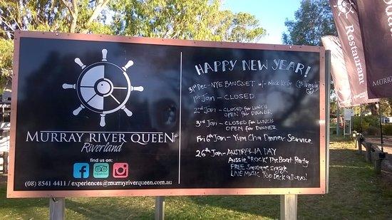 Waikerie Holiday Park: Good Thai restaurant on the Murray River Queen Short walk from Caravan Park