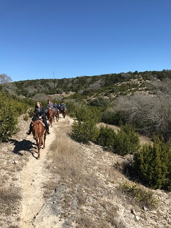 Boerne, TX: Riding the trail