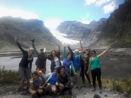 Chaiten, Chile: Con un excelente grupo en una caminata que duro todo el dia!!!