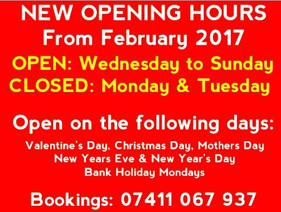 West Yorkshire, UK : New opening hours