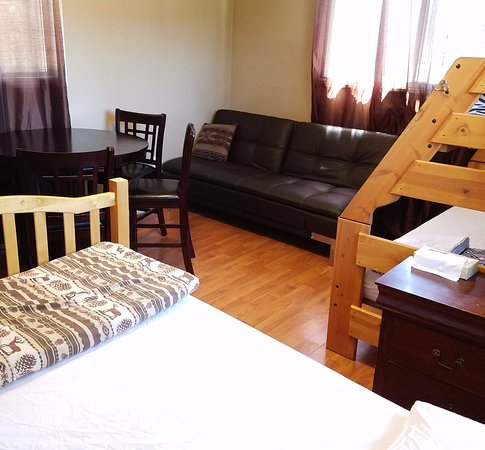 have sofa Larger rooms have Sofa Table Chairs and Smart TV +Fridge in room  have sofa